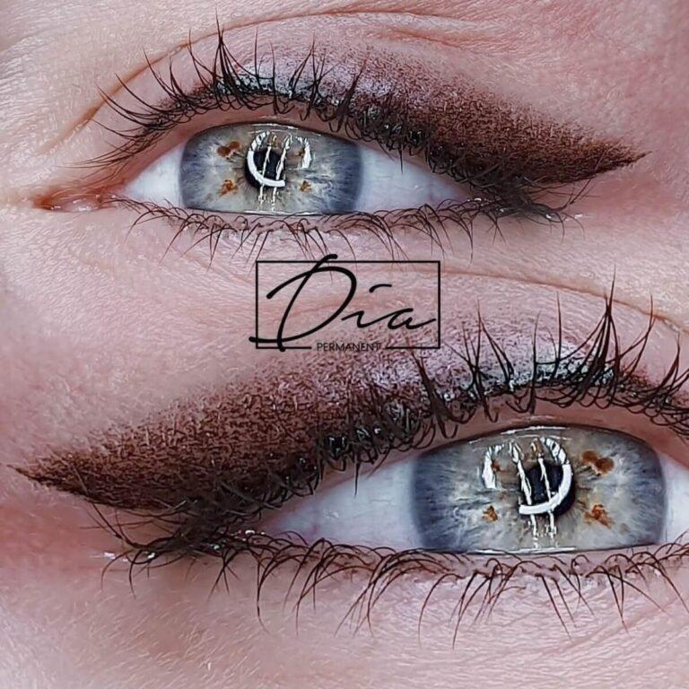 Akių su šešėliu - permanentinis makiažas pirma fotografija
